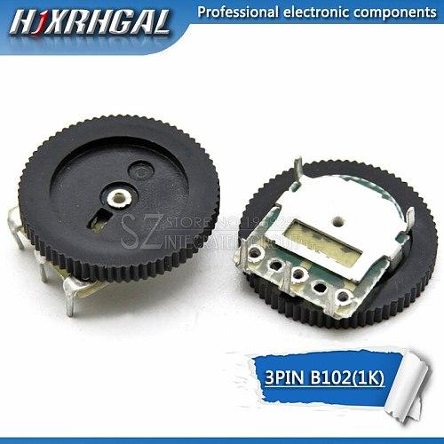 10pcs Double Gear tuning potentiometer B102 1K 3Pin 16*2mm Dial Potentiometer Taper Volume Wheel Duplex Potentiometer  hjxrhgal