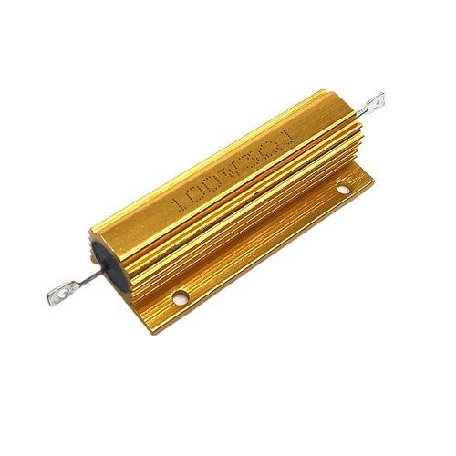 50W 100W Aluminum Power Metal Shell Case Wirewound Resistor 0.01R ~ 100K 1 6 8 10 20 200 500 1K 10K Ohm Resistance RX24