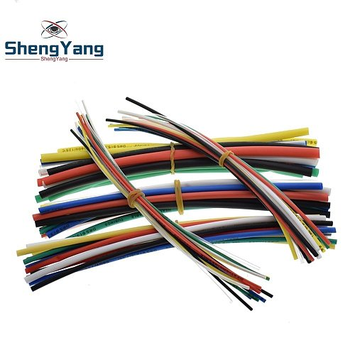 New Electric Unit 70 pcs Flame Retardant Durable 7 Color Assorted Colors Ratio 2:1 Polyolefin Heat Shrink Tubing Tube Kits