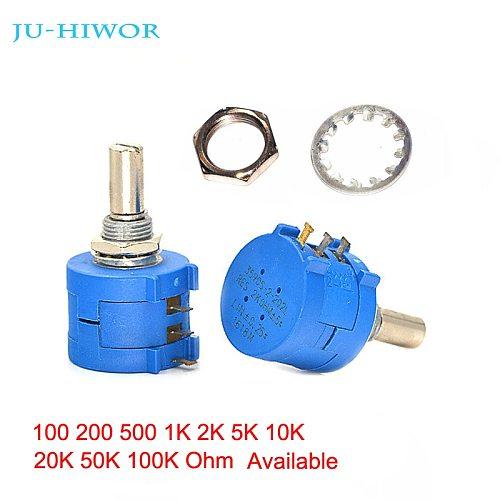 10pcs 3590S-2 Precision Multi-turn Potentiometer Trimmer Adjustable Resistance 100 200 500 1K 2K 5K 10K 20K 50K 100K Ohms