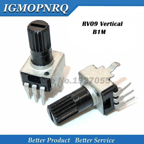 100pcs  Adjustable resistance potentiometer RV09 type vertical 1m 3 feet 0932  1m long handle 12.5 MM