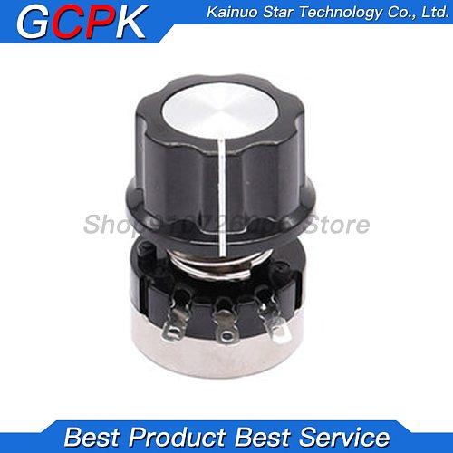 3PCS = ( RV24YN20S /A03 knob /Dials each 1PCS ) 1K 2K 5K 10K 20K 50K 100K 200K 500K 1M ohm Turn Film Rotary Potentiometer