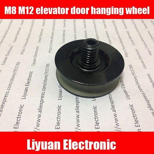 3pcs M8 elevator door hanging wheel / 48 * 14 * 6200 Door hanging round/ S200 K300 M12 Rotary wheel