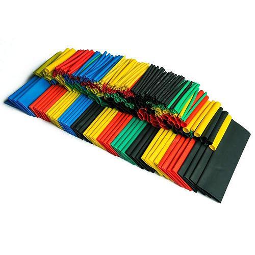 328 Pcs Heat Shrink Tubing 5 Colors 8 Sizes Assorted Tube Wrap Sleeve Set Combo