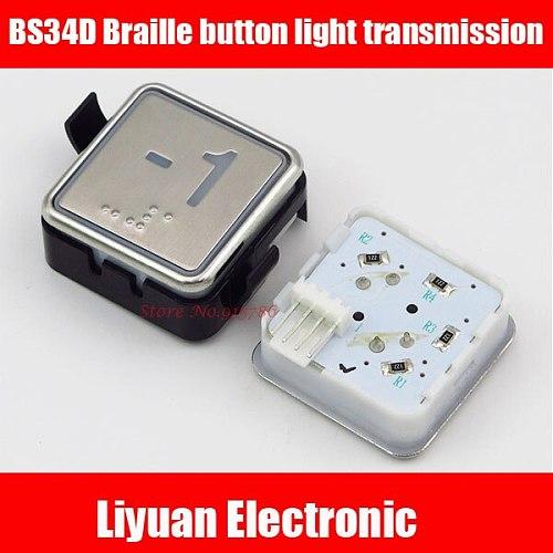 BS34D button /opaque light elevator blue light white light button braille button light transmission elevator accessories