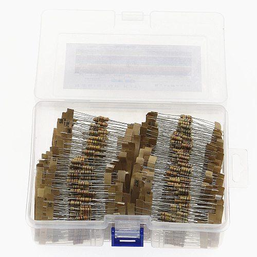 1000pcs/Box 1/2W 5% 100Values 1-10M ohm Carbon Film Resistors Assortment Kit Electronic Components