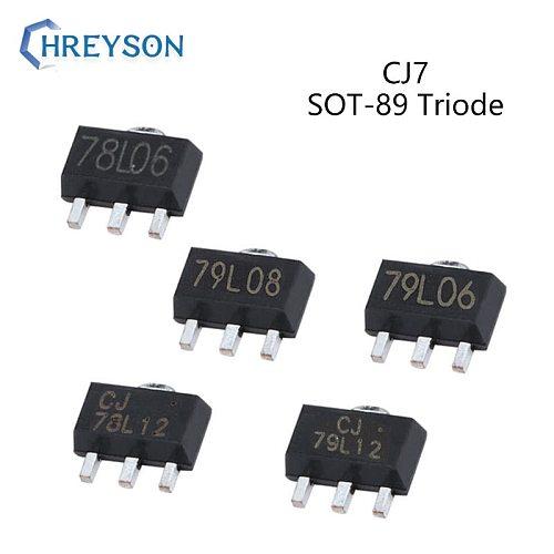 10Pcs Positive Voltage Regulator Transistor Triode CJ79L08 8V CJ79L12 12V CJ78L05 CJ78L06 CJ78L08 CJ78L12 CJ78L15 IC SOT-89