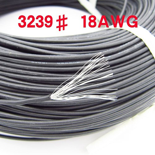 1M  3239# 16AWG 18AWG silicone wires  BLACK RED WIRE CABLE