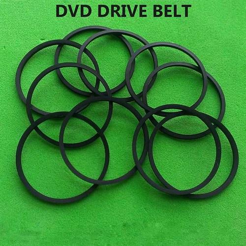 10pcs/lot 1.2mm thickness 2.5-6.5 CM all size transmission belt size folded lenth 5.0 CM drive belt DVD VCD CD rubber belt