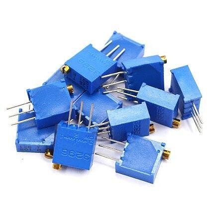 10Pcs/lot 3296W series 3296W 103 10K ohm Top regulation Multiturn Trimmer Potentiometer 1K 2K 5K 20K 50K 100K 200K 3296W-1-103LF