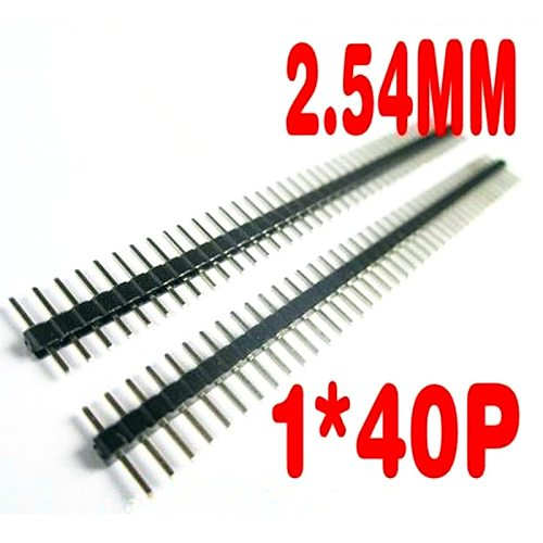 200pcs/lot 40P Male Single Row Pin Header Strip PCB Male IC Connector Pin Header 1*40P 2.54 mm 1X40P / 1*40 Male Pin Header