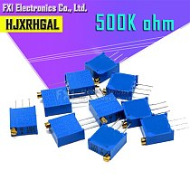 10pcs 3296W-1-504LF 3296W 500K ohm 504 3296W-1-504 3296W-504 W504 Trimpot Trimmer Potentiometer