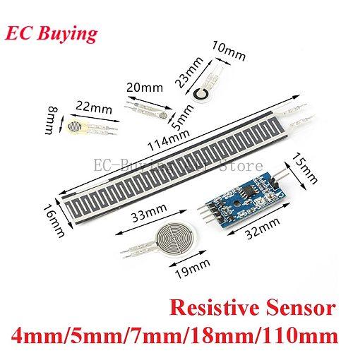 Resistive Thin Film Pressure Sensor Flexible Force Sensitive Resistor Load Cell Converter Module 4/5/7/18/110mm For Arduino