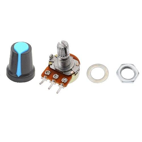 5pcs/lot WH148 Potentiometer Single Linear with knobs 1K 2K 5K 10K 20K 50K 100K 250K 500K 1M