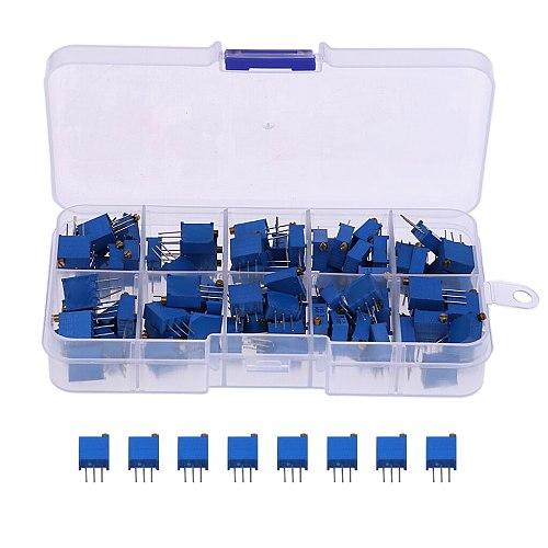 3296 Multiturn Variable Resistors Potentiometer,Preset,Trimmer,Pot (x 100)