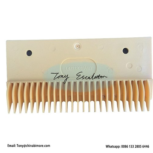 Escalator Plastic Comb Plate L47312018AB L212mm Hole Pitch 145mm Left 25 Teeth