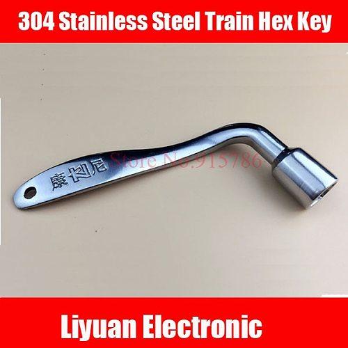 1pcs 304 Stainless Steel Train Hex Key / Railway Train Door Key Compatible Triangle Key
