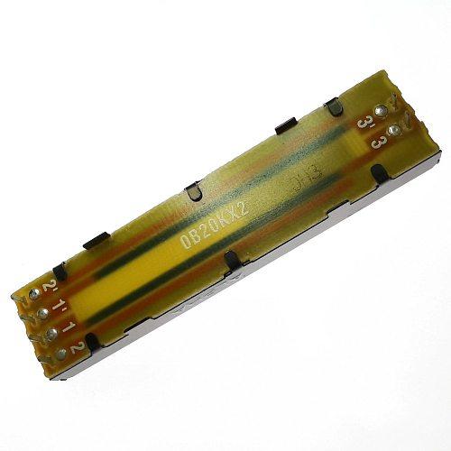 1PCS Taiwan ALPHA 20K 20KX2 72MM RA45D2F-211 B20K×2 Slide Potentiometer 0B20KX2
