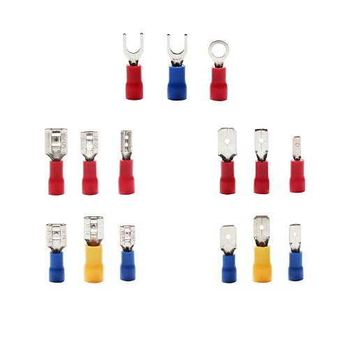 280Pcs Assorted Ring Terminal Electrical Crimp Connector Kit Set With Box Copper Wire Insulated Cord Pin End Butt