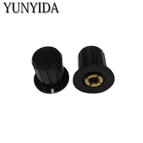 5PCS  Black  WXD3-13-2W potentiometer knob cap (copper core)  Free shipping    4mm