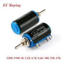 WXD3-13-2W 220R 470R 1K 2.2K 4.7K 5.6K 10K 22K 47K ohm Precision Potentiometer WXD3-13 2W Wirewound Multi-Turn Potentiometer