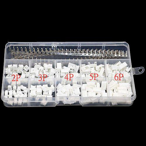 350pcs XH2.54 2p 3p 4p 5p 6 pin 2.54mm Pitch Terminal Kit / Housing / Pin Header JST Connector Wire Connectors Adaptor XH Kits
