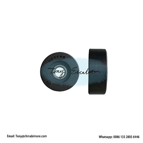 Escalator Roller OD70mm W25mm Bearing6204 Black for schindler parts