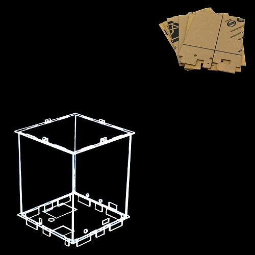Size  12x12x h15 cm DIY 3D 8S mini LED Light Cubeeds Acrylic- note: box  only with the use of our 3d8 mini cubeeds