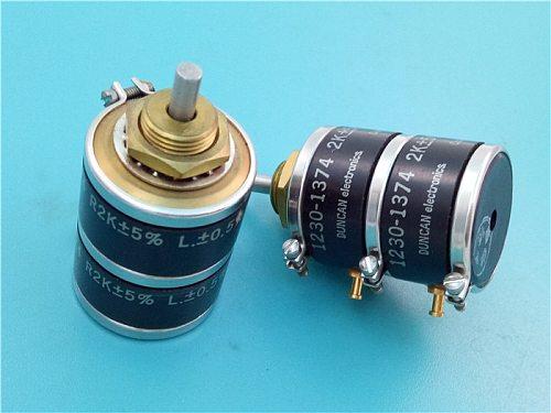 [VK] DUNCAN original conductive plastic potentiometer 1230-1374 2K double potentiometer shaft diameter 3MM switch