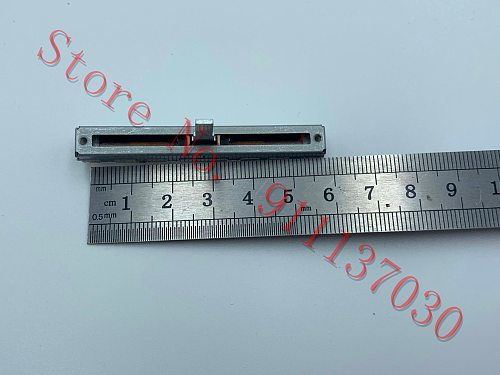 1pcs   for ALPS switch 6 cm 60mm stroke 45mm slide potentiometer mixer fader B10K handle length 15MM No midpoint 1