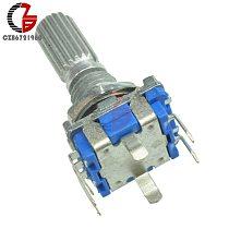 2Pcs 15mm 20mm EC11 Rotary Encoder Switch Digital Audio Potentiometer Encoding Knob Switch Half Circular Shaft Handle