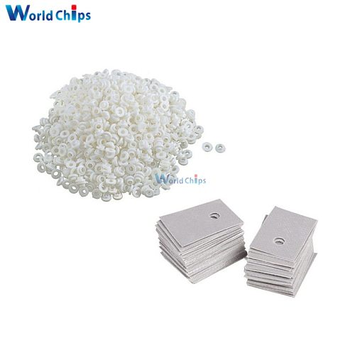 100PCS TO-220 Transistor Plastic Washer Insulation Washer + TO-220 Pads Silicone