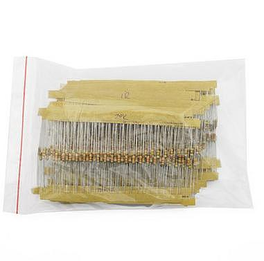 Free Delivery. 1/4 w carbon film resistor pack 1 k ohm - 10 m euro, a total of 25 kinds of resistance Each of the 10