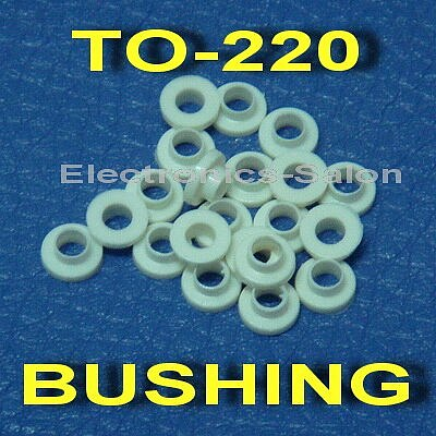 ( 50 pcs/lot ) Insulation Bushing for TO-220 Transistor, Washer.