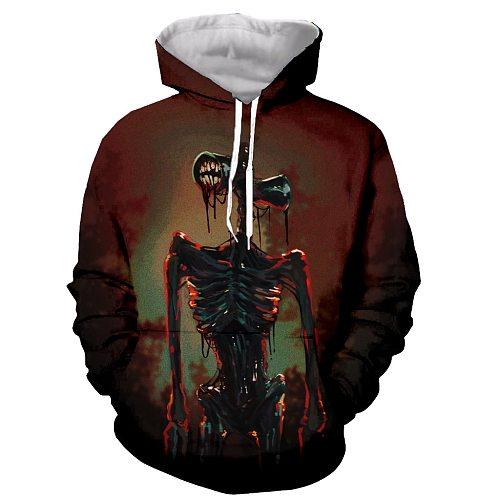Siren Head Funny New Fashion Long Sleeves 3D Print Zipper/Hoodies/Sweatshirts/Jacket/Men/women dropshipping