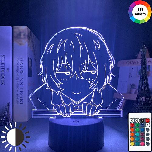 Bungo Stray Dogs Osamu Dazai Lamp for Room Decor Friend Birthday Gift Gadget Nakahara Chuya Night Light Anime Neon Light Dazai