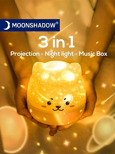 Star Projector Light Colorful Music LED Night Lights For Kids USB Charging/Rotatable/Sing Project lamp Bedroom Party MOONSHADOW