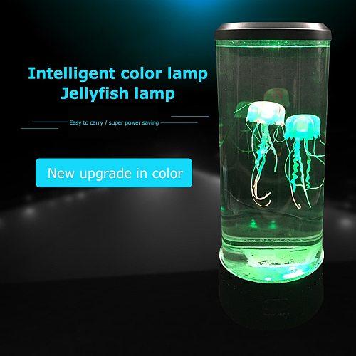 LED Animated Jellyfish Lamp Lava Lamp Kid Gift Color Changing Jellyfish Tank Aquarium Led Lamp Relaxing Mood Bedside Night Light