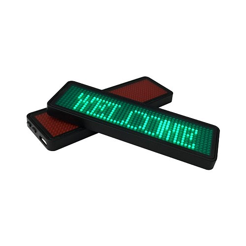 44x11 Dots Small LED display, LED Name Badges, Multi-program and support multiple languages