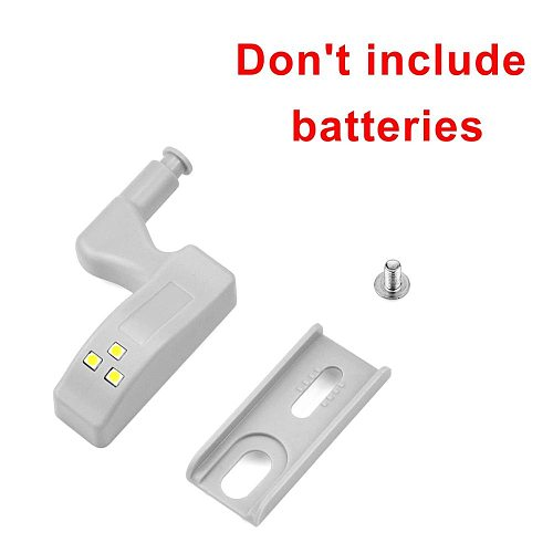 2/4 Pcs LED Universal Hinge Cupboard Cabinet Sensor Night Light Door Open Auto ON Home Smart lamp 12V DC 23A Battery Not Include