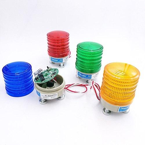 N-5041TJ Magnetic Indicator light siren horn warning light LED lamp small flashing light security alarm 12V 24V 220V