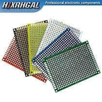 5pcs/lot PCB Double-Sided Protoboard Breadboard Universal Board 5*7mm 5x7mm Red White Blue Green Black Yellow