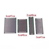 Dropshipping 4pcs 5x7 4x6 3x7 2x8cm double Side Copper prototype pcb Universal Board Fiberglass board for Arduino