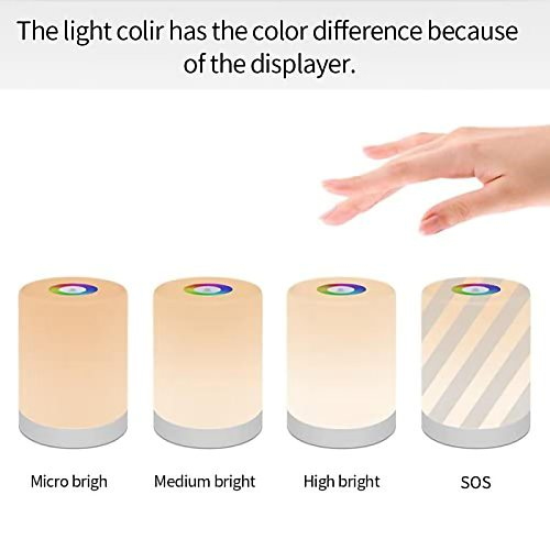 New LED Touch Control Night Light Smart Bedroom Bedside Table Lamp Dimmable RGB Color Change Rechargeable Smart Home Lighting