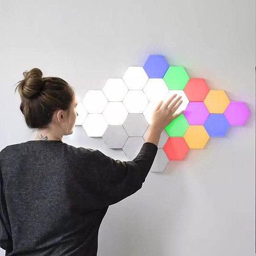NEW LED DIY Quantum Light Touch Sensitive Sensor Night Lamp Modular Hexagonal LED Creative Home Decor Color Night lamp lampara
