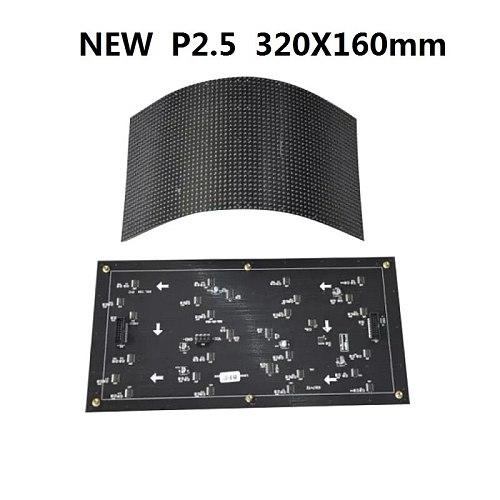 P2.5 Flexible 320x160mm 128x64 Pixels 32s Full Color RGB Curved Soft LED Display Module