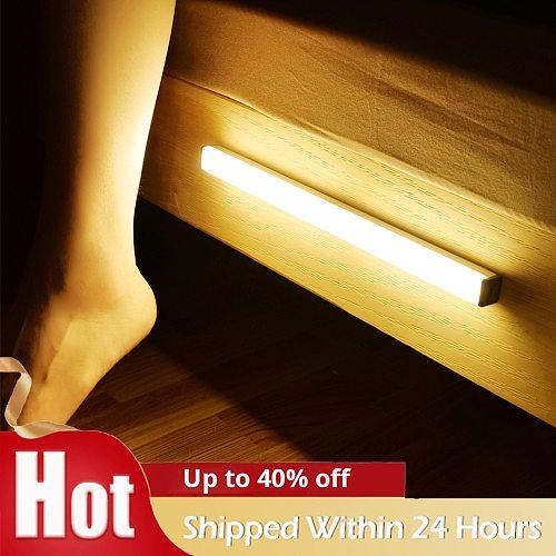 LED Night Light Motion Sensor Wireless Night Lamp For Kitchen Beside Bedroom Corridor Cabinet Wardrobe Wall Lamp Home Decor