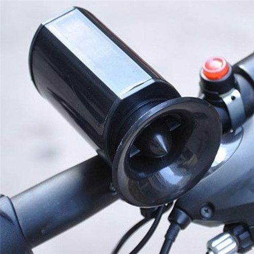 6 Sounds Electronic Bicycle Alarm Ultra-loud Speaker Black Bell Electronic Horn Bike Siren Cycling Safety Bicycle Accessories