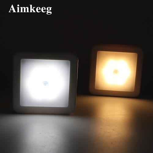 LED night light with smart motion sensor battery power, suitable for baby bedside lamp kitchen bedroom corridor bathroom toilet