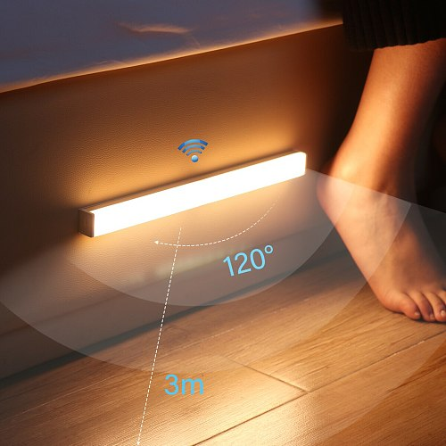 LED Night Lights Smart PIR Motion Sensor Wireless Night Lamps Bedroom Decor Light Detector Wall Decorative Lamp Cupboard Kitchen